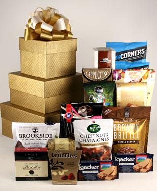 Stacked Treasures Gift Basket